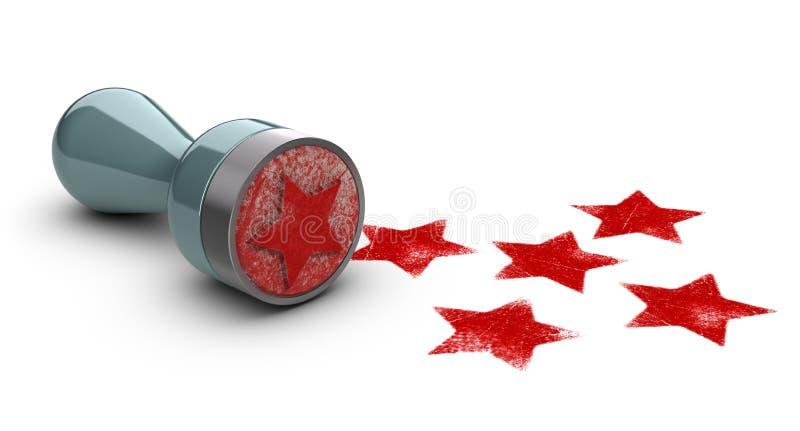 Cinq étoiles illustration de vecteur