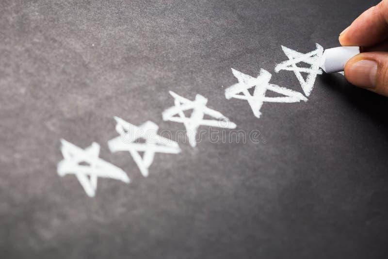 Cinq étoiles images libres de droits