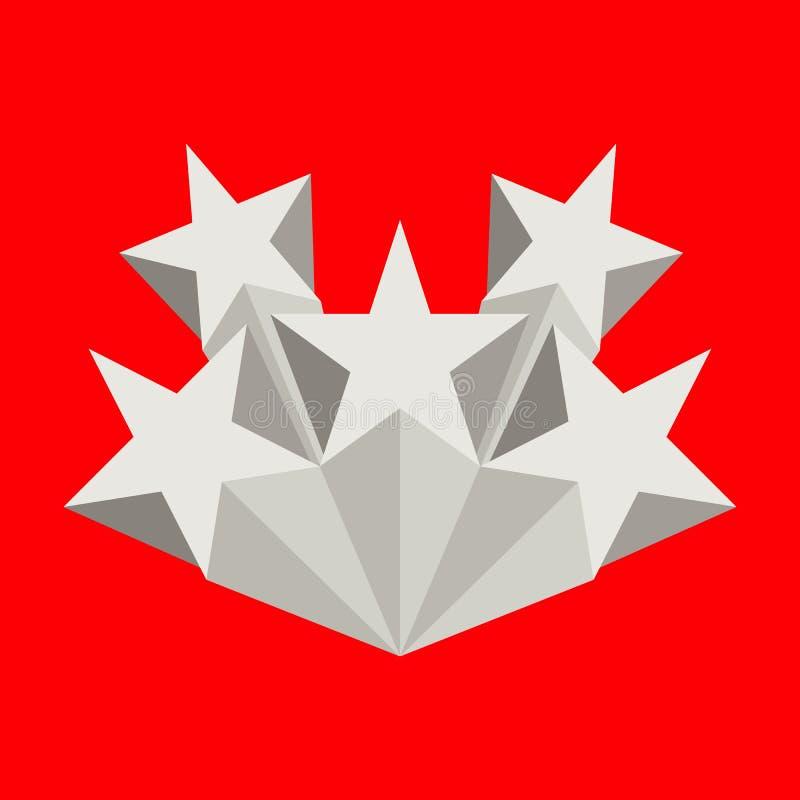 Cinq étoiles argentées illustration libre de droits