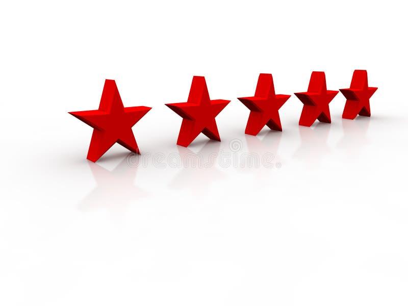 Cinq étoiles brillantes illustration libre de droits