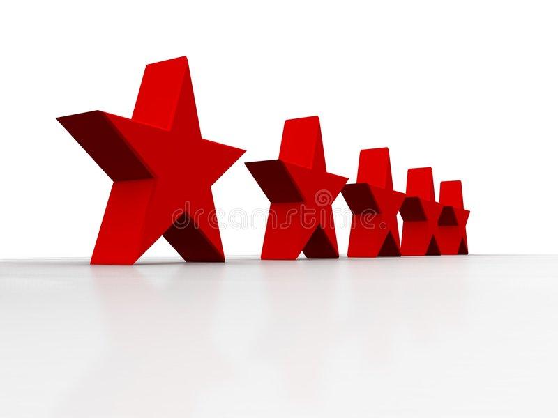 Cinq étoiles brillantes illustration stock