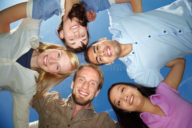 Cinq amis photo stock