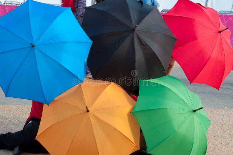 Cinq ballons colorés photos libres de droits
