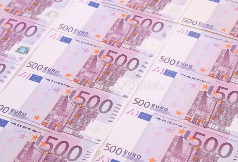 Cinq billets de banque d'euro de centaines images libres de droits