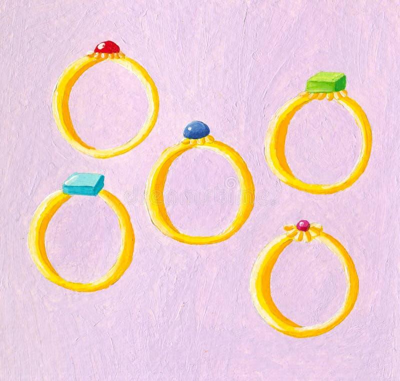 Cinq boucles illustration de vecteur