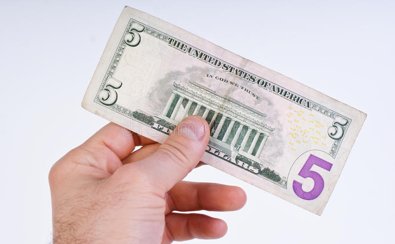 cinq dollars image stock