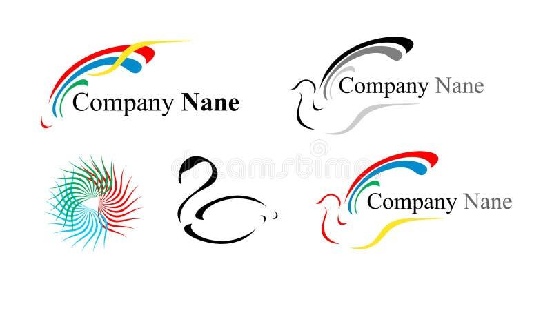 Cinq Logos : Une Colombe Et D Autres Image stock