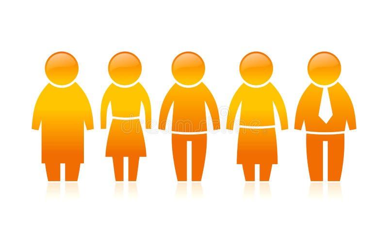 Cinq peuples illustration de vecteur