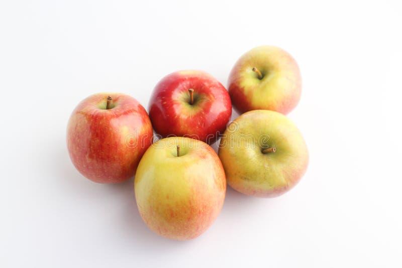 Cinq pommes en perspektywa fotografia stock