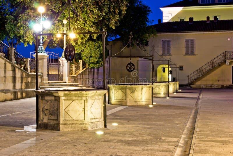 Place de cinq puits dans Zadar photo libre de droits