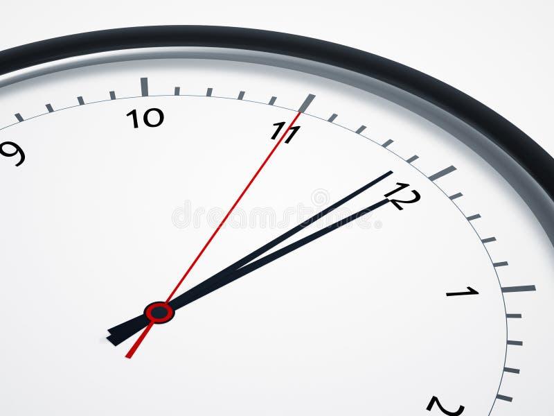 Cinq secondes à douze illustration stock