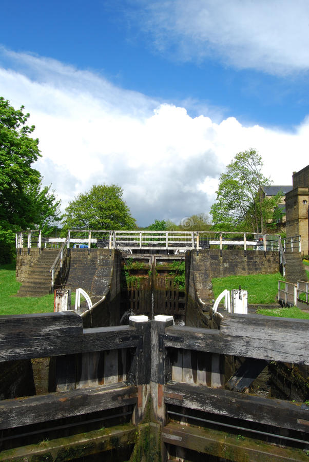 Cinq serrures de hausse chez Bingley West Yorkshire photo stock