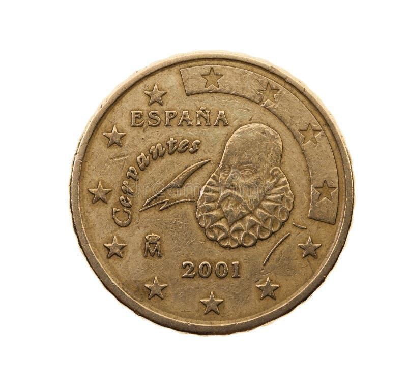 Cinquanta euro centesimi fotografia stock