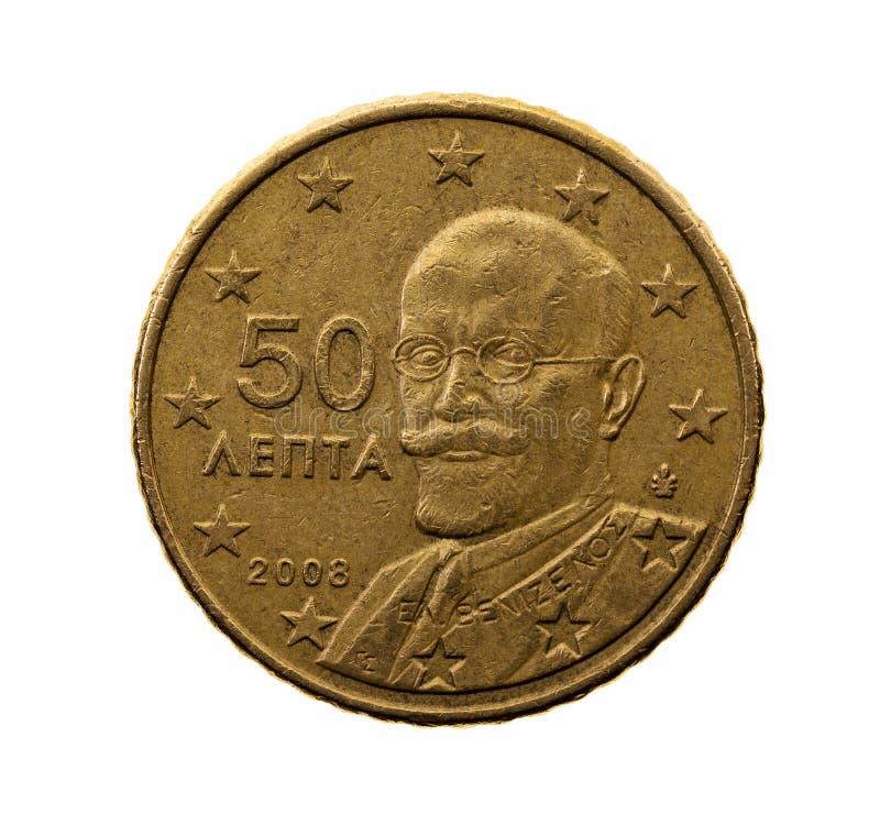 Cinquanta euro centesimi immagini stock libere da diritti