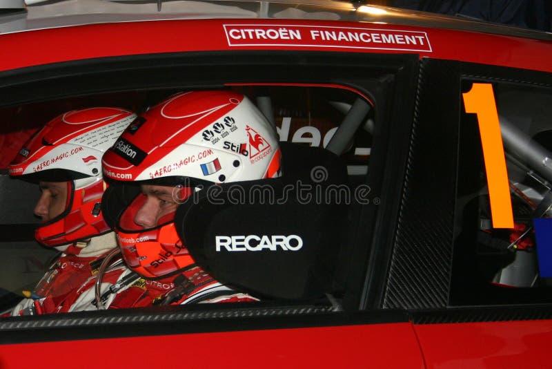 Cinquante victoires pour Sebastien Loeb dans le championnat de WRC photo stock
