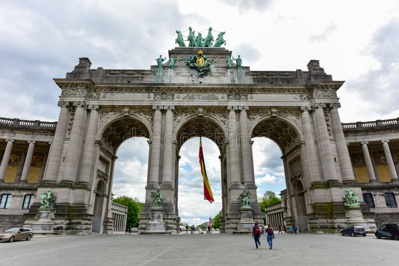 Cinquantenaire Park in Brussels stock photography