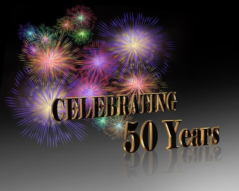 cinquantesimo Celebrazione di anniversario   royalty illustrazione gratis