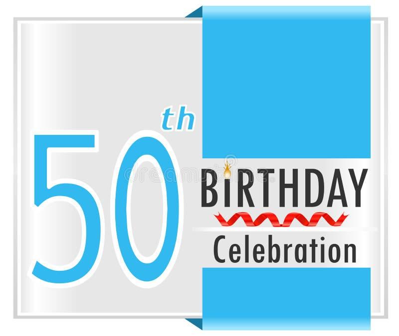 cinquantesimo compleanno, 50 anni di carta di celebrazione illustrazione vettoriale