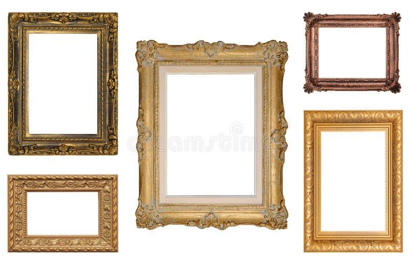 Cinque cornici antiche fotografia stock