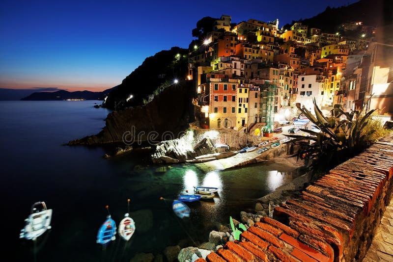 cinque Italy riomaggiore terre wioska zdjęcie stock
