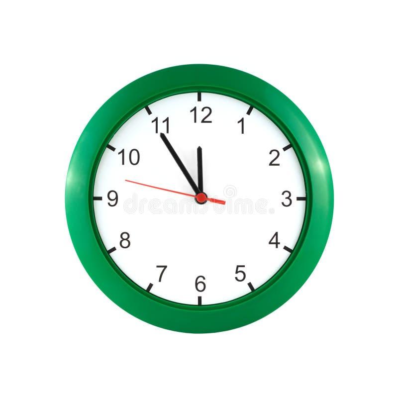 Cinque minuti a dodici sull'orologio immagini stock libere da diritti
