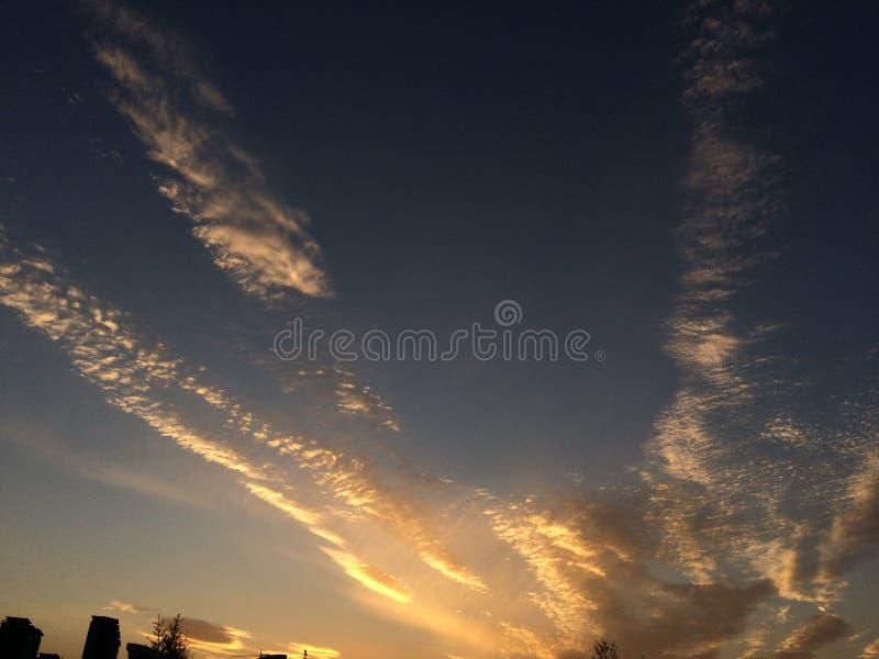 cinque nuvole fotografia stock libera da diritti