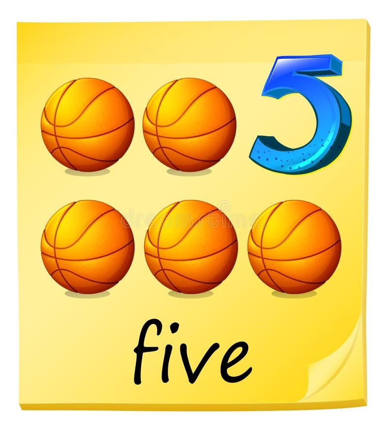 Cinque palle royalty illustrazione gratis