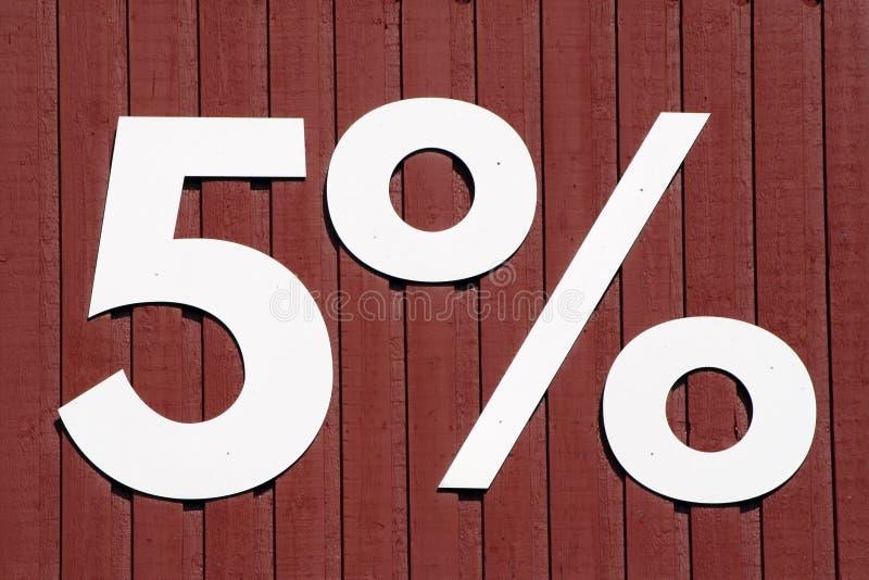 Cinque per cento immagine stock