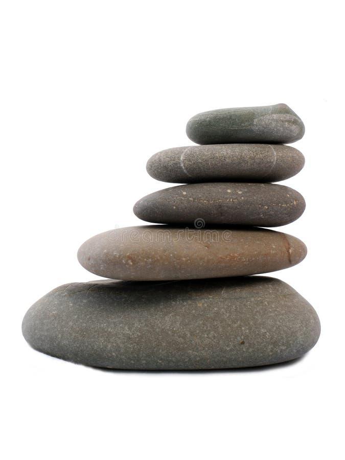 Cinque pietre di zen fotografia stock