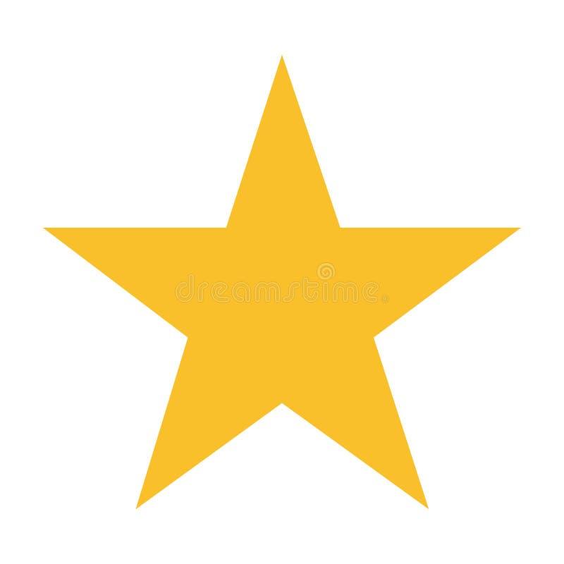 Cinque punti gialli della stella su fondo bianco illustrazione vettoriale