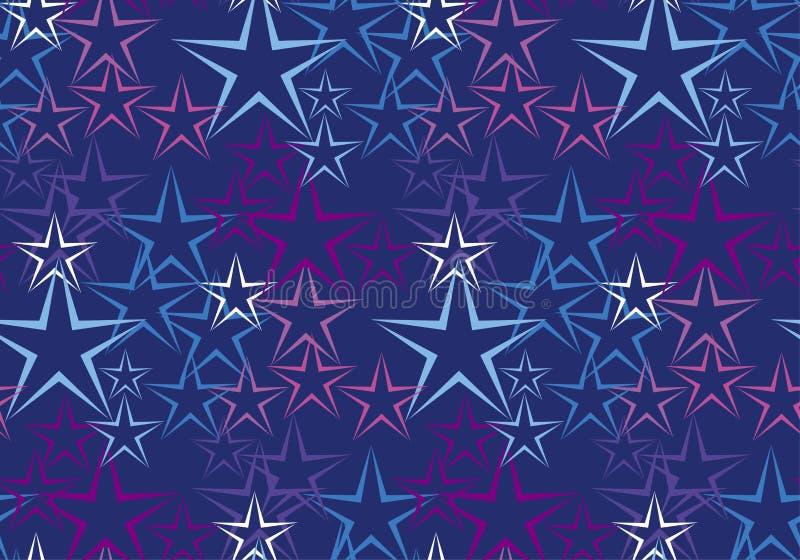 Cinque rayed il fondo decorativo della stella royalty illustrazione gratis