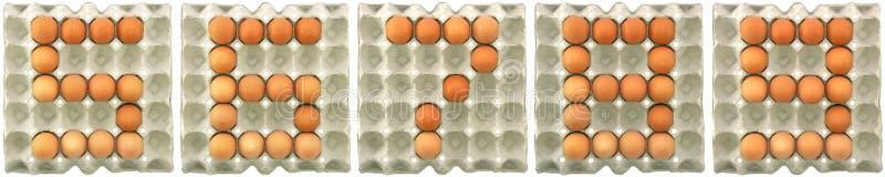 Cinque sei manifestazioni sette otto nove dalle uova fotografie stock
