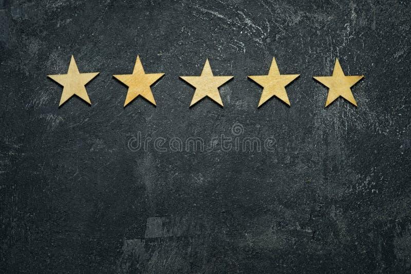 Cinque stelle fotografia stock