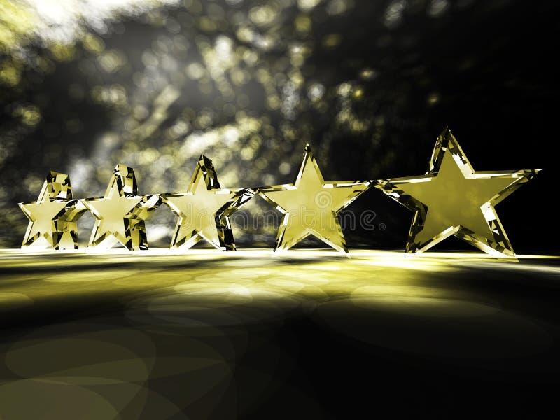 Cinque stelle fotografie stock libere da diritti