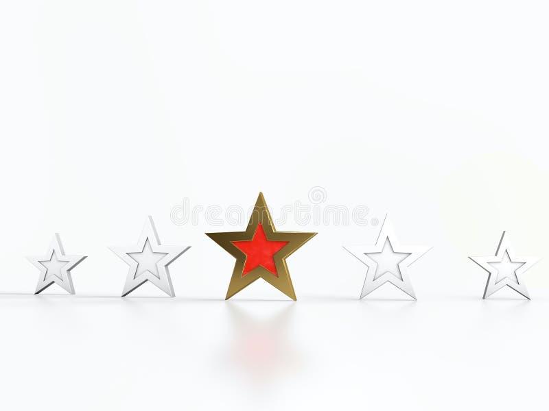 Cinque stelle royalty illustrazione gratis
