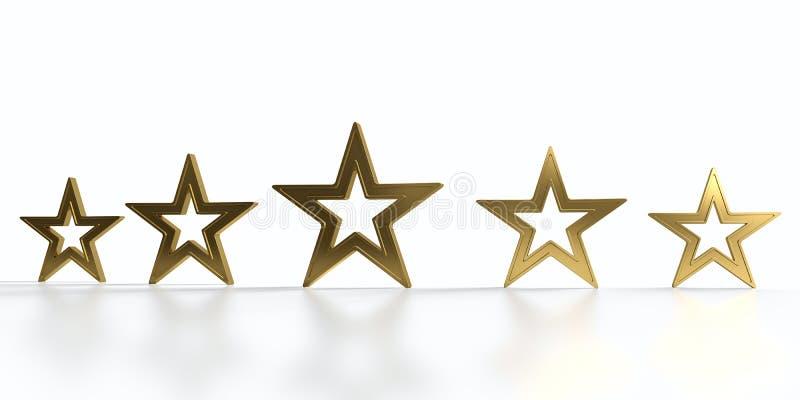 Cinque stelle dorate royalty illustrazione gratis
