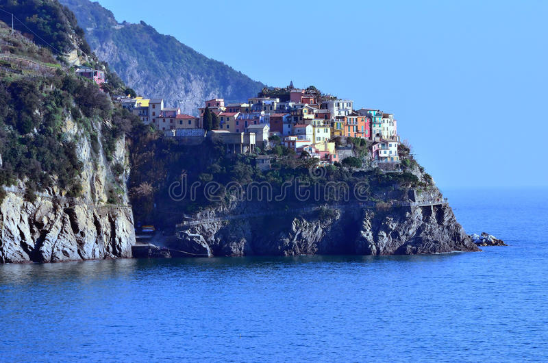 Cinque Terre,意大利- manarola 库存图片