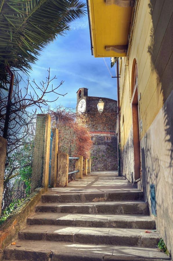 Cinque Terre, Италия - Riomaggiore стоковая фотография rf