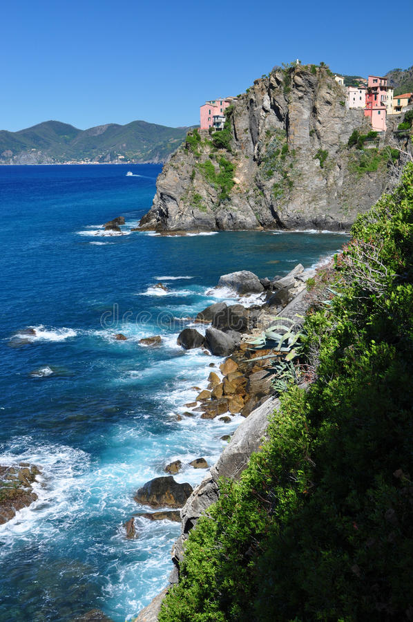 Download Cinque Terre coast stock photo. Image of green, brown - 16401578
