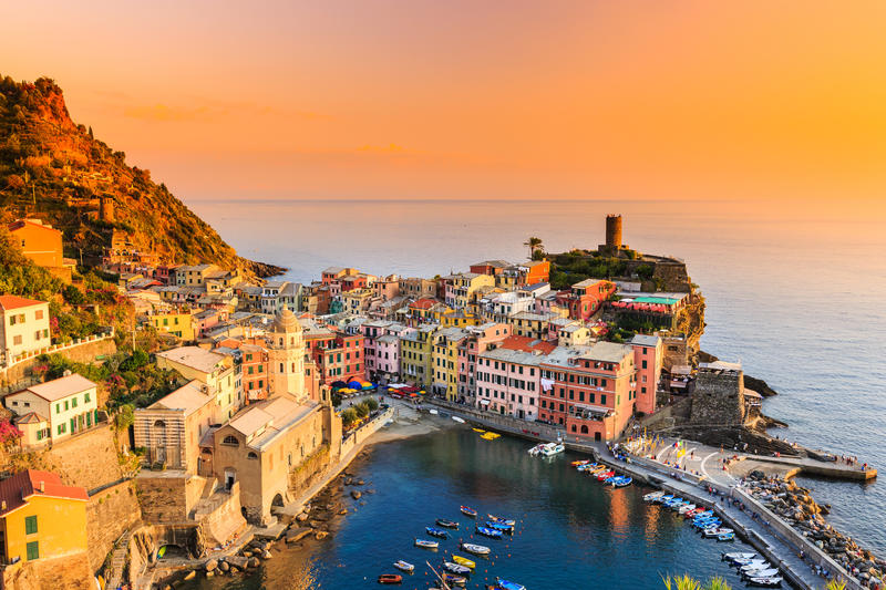 Cinque Terre, Italie photo stock