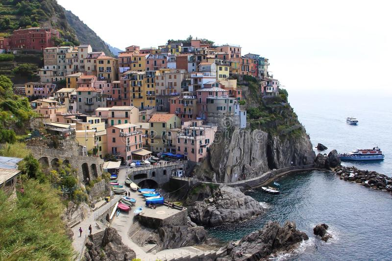 Cinque Terre Italy imagens de stock