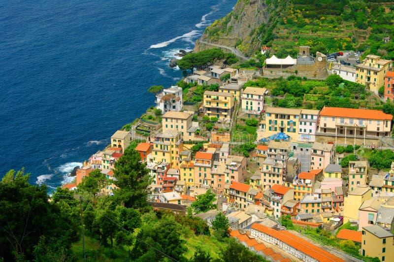 Cinque Terre Riomaggiore lizenzfreies stockbild
