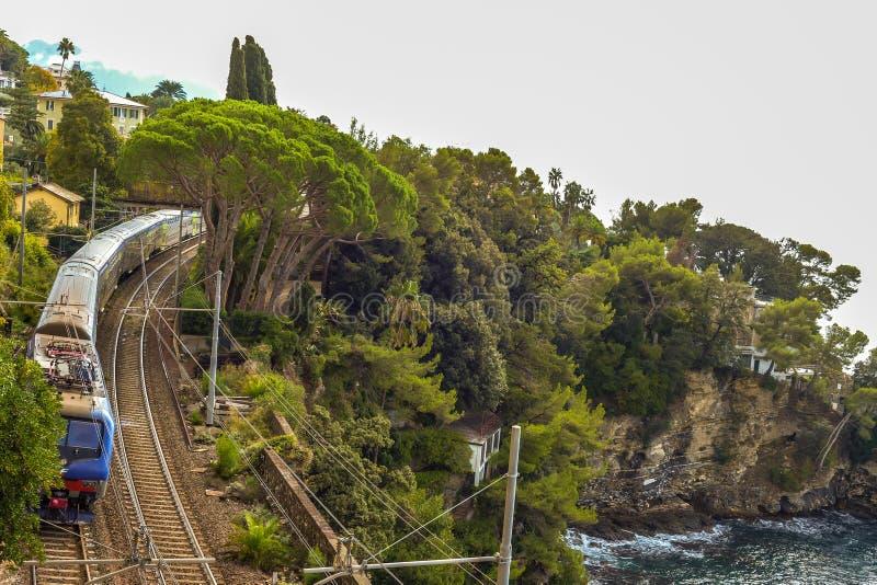 Cinque Terre Train - Italië stock fotografie