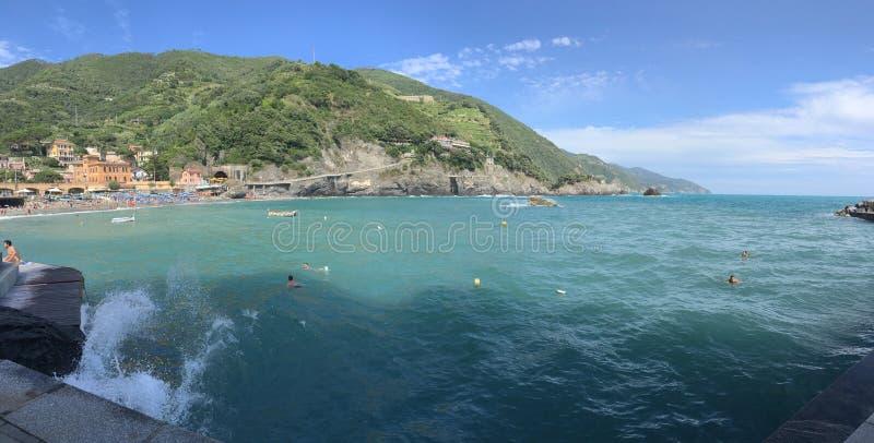 Cinque Terre-waterweg royalty-vrije stock foto's