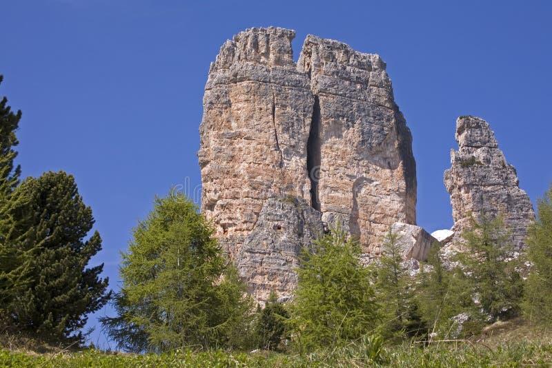 Cinque torre stockfotografie