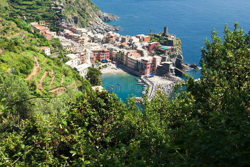 cinque vernazza της Ιταλίας Λιγυρία terre στοκ εικόνες
