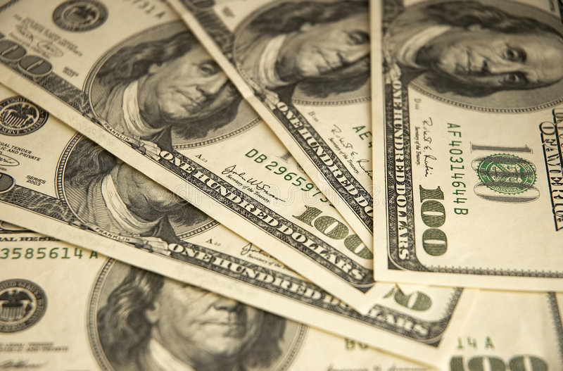 Cinquecento Dollari Fotografia Stock Libera da Diritti