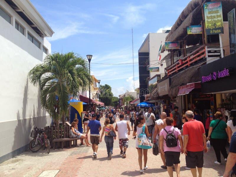 Cinquième Avenue sur le del Carmen Mexico de Playa photos stock