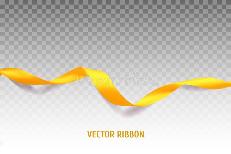 Cinta amarilla del vector libre illustration