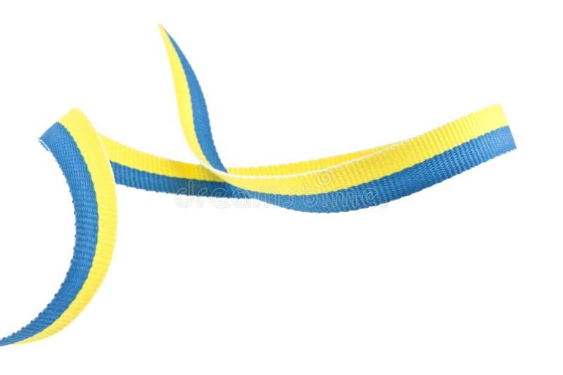 cinta Amarillo-azul aislada en blanco fotografía de archivo libre de regalías